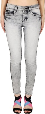 Gofab Skinny Fit Women,s White Jeans