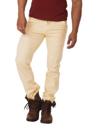 Race-Q SLIM Fit Men's Beige Jeans