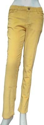 Miraaya Slim Fit Women,s Yellow Jeans