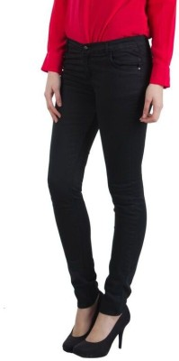 Shining Girl Slim Fit Women's Black Jeans