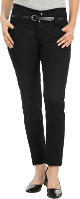 Avarice Slim Fit Women's Black Jeans