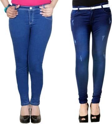 Zrestha Slim Fit Women's Blue, Light Blue Jeans