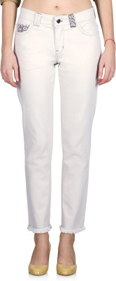 Indie Jeans Slim Fit Women's White Jeans