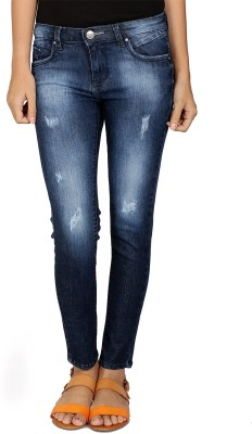 Gofab Skinny Fit Women,s Blue Jeans