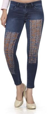 CHANNEL-F Slim Fit Women's Blue Jeans