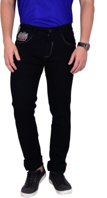 Mokajean Slim Fit Men's Black Jeans