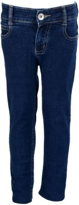 Miloni Slim Fit Girl's Blue Jeans