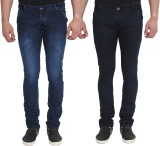 Jevaraz Slim Men's Blue Jeans (Pack of 2...