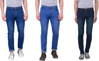 London Looks Jeans (Men's) - London Looks Regular Men's Multicolor Jeans(Pack of 3)