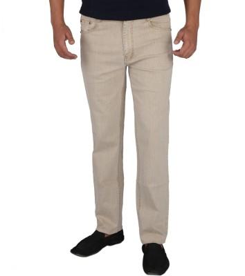 DENIM-O COMFORT Fit Men's Beige Jeans
