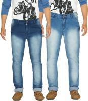 Yo Republic Jeans (Men's) - Yo Republic Slim Men's Dark Blue, Light Blue Jeans(Pack of 2)