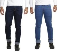 Vs Fashion Jeans (Men's) - VS Fashion Slim Men's Blue, Dark Blue Jeans(Pack of 2)