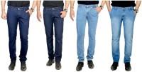 Atlast Jeans (Men's) - atLast Regular Men's Multicolor Jeans(Pack of 4)