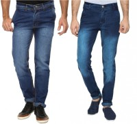 Wajbee The Reasonable Jeans (Men's) - Wajbee The Reasonable Slim Men's Dark Blue Jeans(Pack of 2)