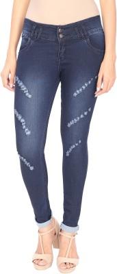 NJ's Skinny Women's Dark Blue Jeans at flipkart