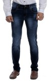 Moustache Skinny Men's Black Jeans