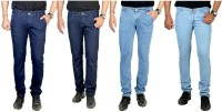 By The Way Jeans (Men's) - By The Way Regular Men's Multicolor Jeans(Pack of 4)