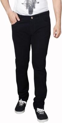 SR BLUE Slim Fit Men's Black Jeans
