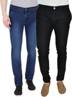 Westkon Jeans (Men's) - Westkon Slim Men's Black, Blue Jeans(Pack of 2)