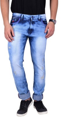 Mokajean Slim Fit Men's Light Blue Jeans