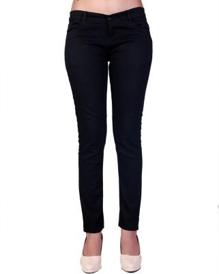 knight vogue skinny Fit Women's Black Jeans