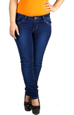 Fashion Cult Slim Women's Dark Blue Jeans at flipkart