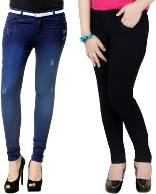 Zrestha Slim Fit Women's Black, Blue Jeans