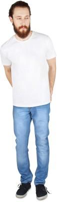 JINJLR Slim Fit Mens Light Blue Jeans