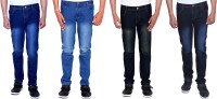 London Looks Jeans (Men's) - London Looks Regular Men's Multicolor Jeans(Pack of 4)