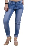 Crease & Clips Slim Women's Blue Jeans
