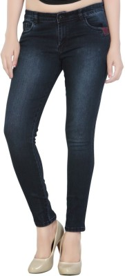 CHANNEL-F Slim Fit Women's Dark Blue Jeans