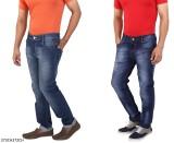 WineGlass Regular Men's Blue Jeans (Pack...