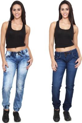 Ansh Fashion Wear Regular Women's Blue Jeans(Pack of 2) at flipkart