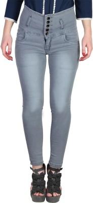 Broadstar Slim Women's Grey Jeans at flipkart