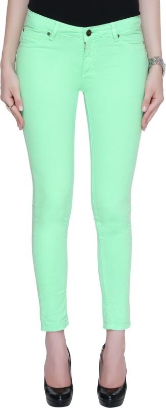 Bedazzle Regular Women's Green Jeans