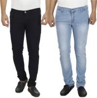 Atlast Jeans (Men's) - atLast Slim Men's Multicolor Jeans(Pack of 2)