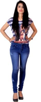Ajaero Slim Fit Women's Blue Jeans