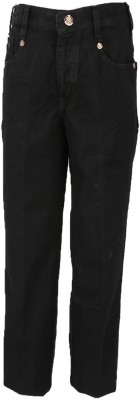 Trick Slim Fit Boy's Black Jeans