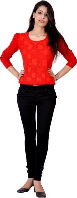 Ajaero Slim Fit Women's Black Jeans