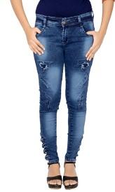 Damen Mode Slim Girls Dark Blue Jeans