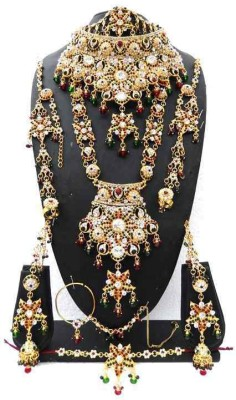 Shree Bhawani Art Jewellery Zinc Jewel Set(Maroon)