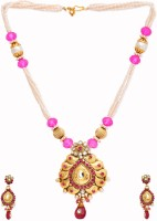 Golden Peacock Alloy Jewel Set(Pink) best price on Flipkart @ Rs. 1549