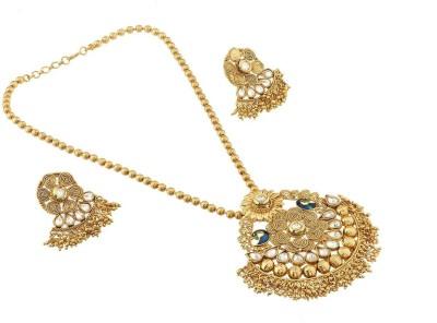 Satyam Jewellery Nx Copper Jewel Set(White)