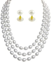 Prisha Collections Mother of Pearl Jewel Set(White) best price on Flipkart @ Rs. 3370
