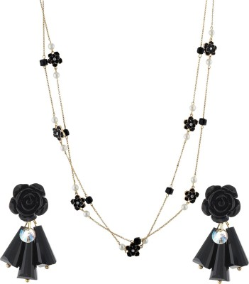 One Stop Fashion Alloy Jewel Set(Black) at flipkart