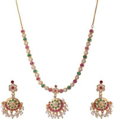 Abhijewels Alloy Jewel Set