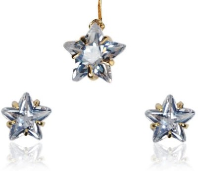 Rashi Jewellery Alloy Jewel Set(White)