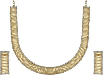 Chaahat Fashion Jewellery Copper Jewel Set(Gold)