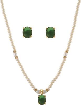 FreshMe Fashion Jewellery Alloy Jewel Set(Green)