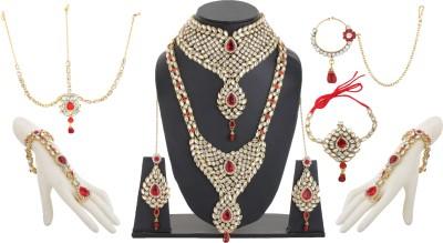Bling N Beads Alloy, Silver, Metal Jewel Set